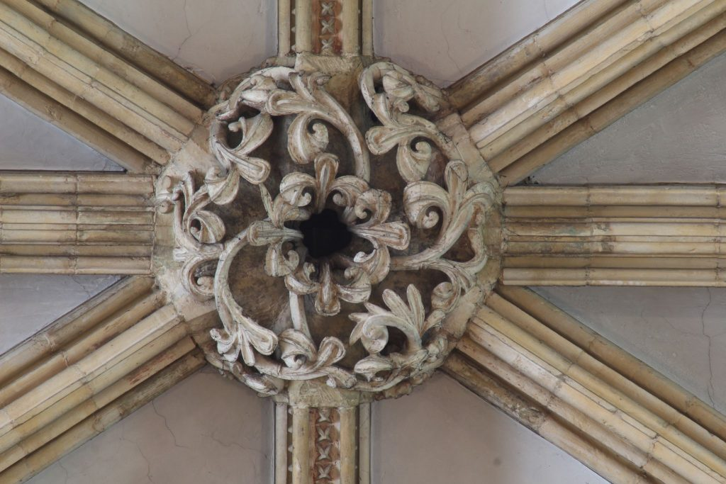 Image of boss in the nave high vaults of Lincoln Cathedral