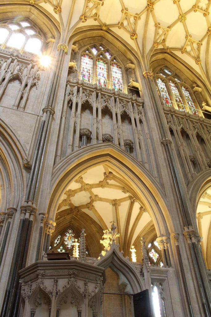 Image of northeast choir elevation at Wells Cathedral