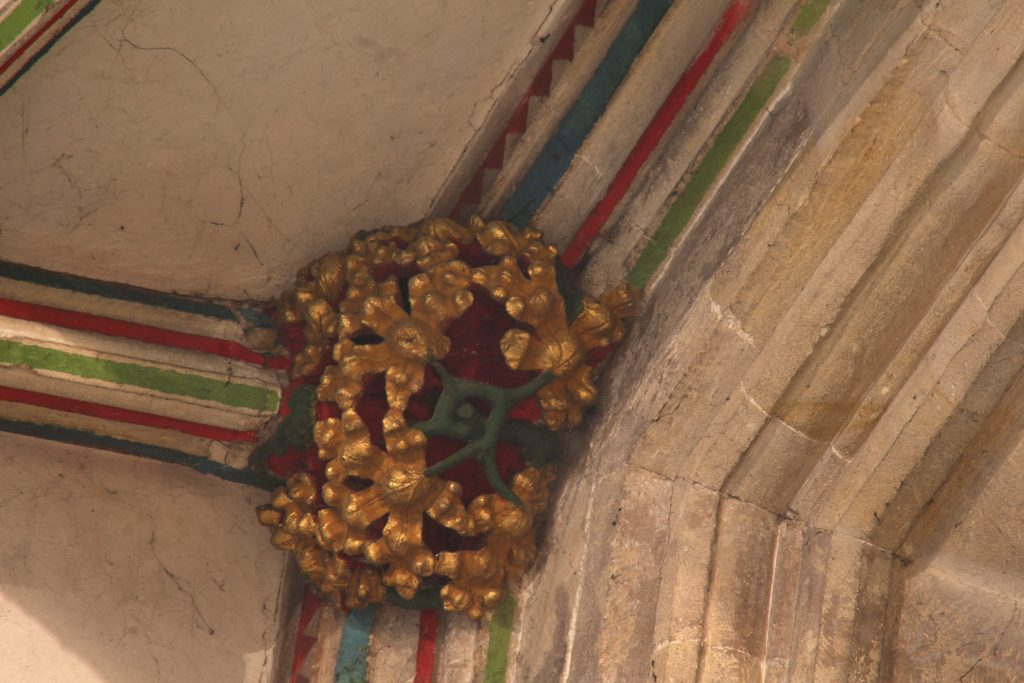 Image of wall rib boss in the Lady Chapel at Wells Cathedral