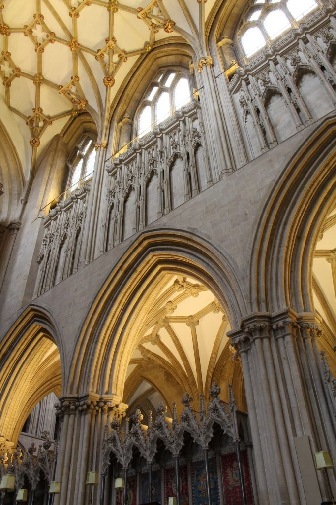 Image of southeast elevation of choir at Wells Cathedral
