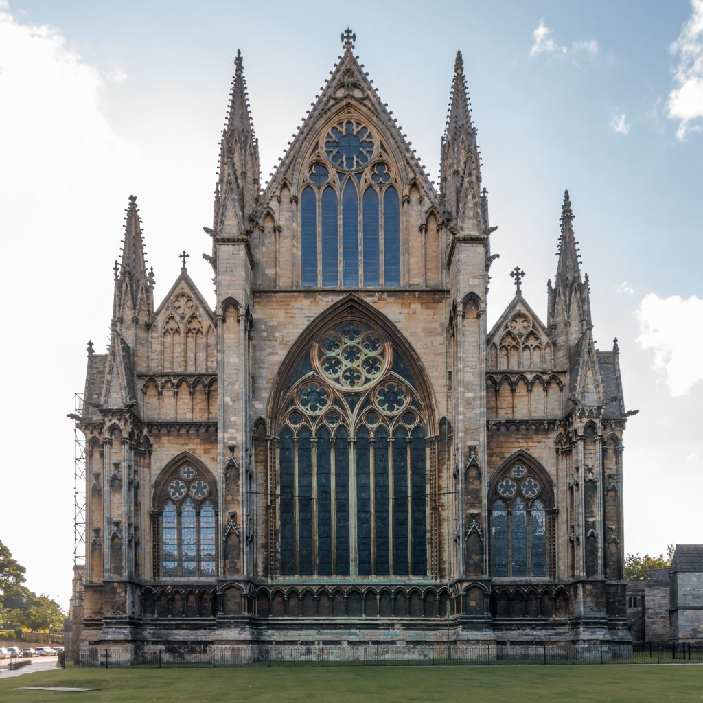 Image of exterior of east end of Lincoln Cathedral, photograph by Martin Kraft (Wikimedia Commons, CC BY-SA 3.0)