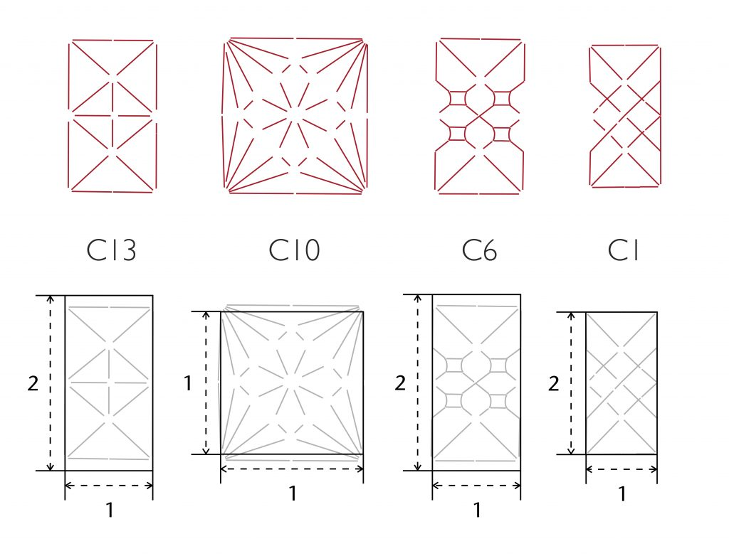 Image of proportional relationships in the plans of the vaults at Ottery St Mary
