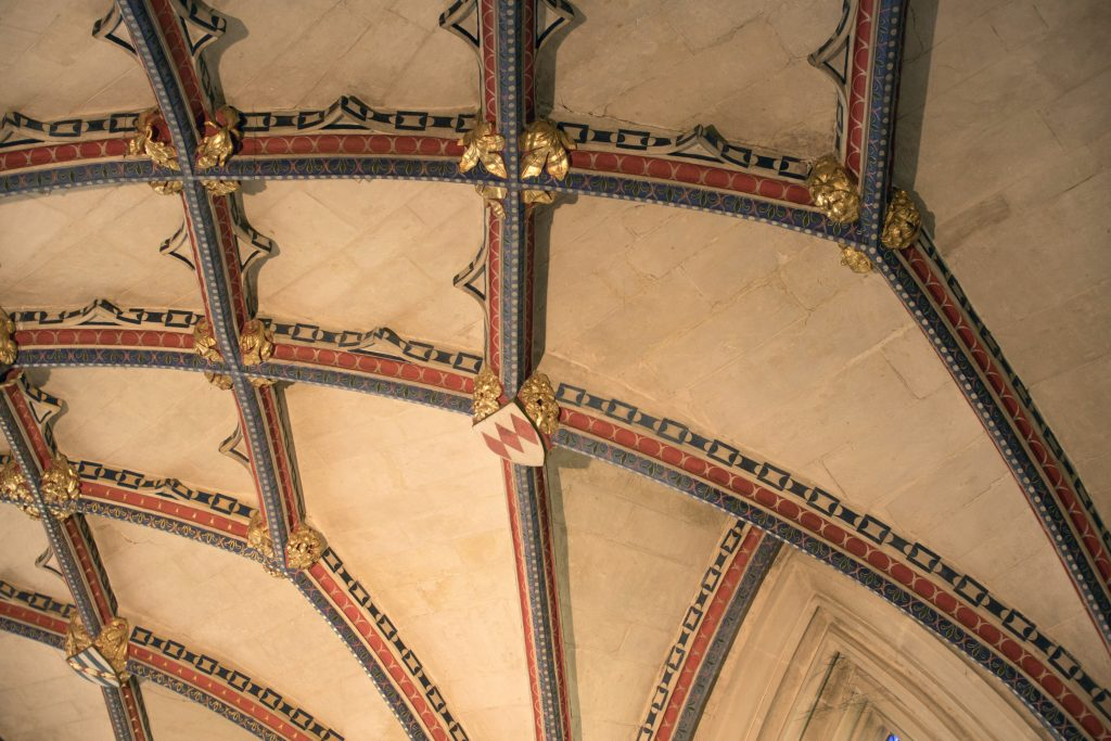 Image of ribs and bosses in the Lady Chapel at Ottery St Mary