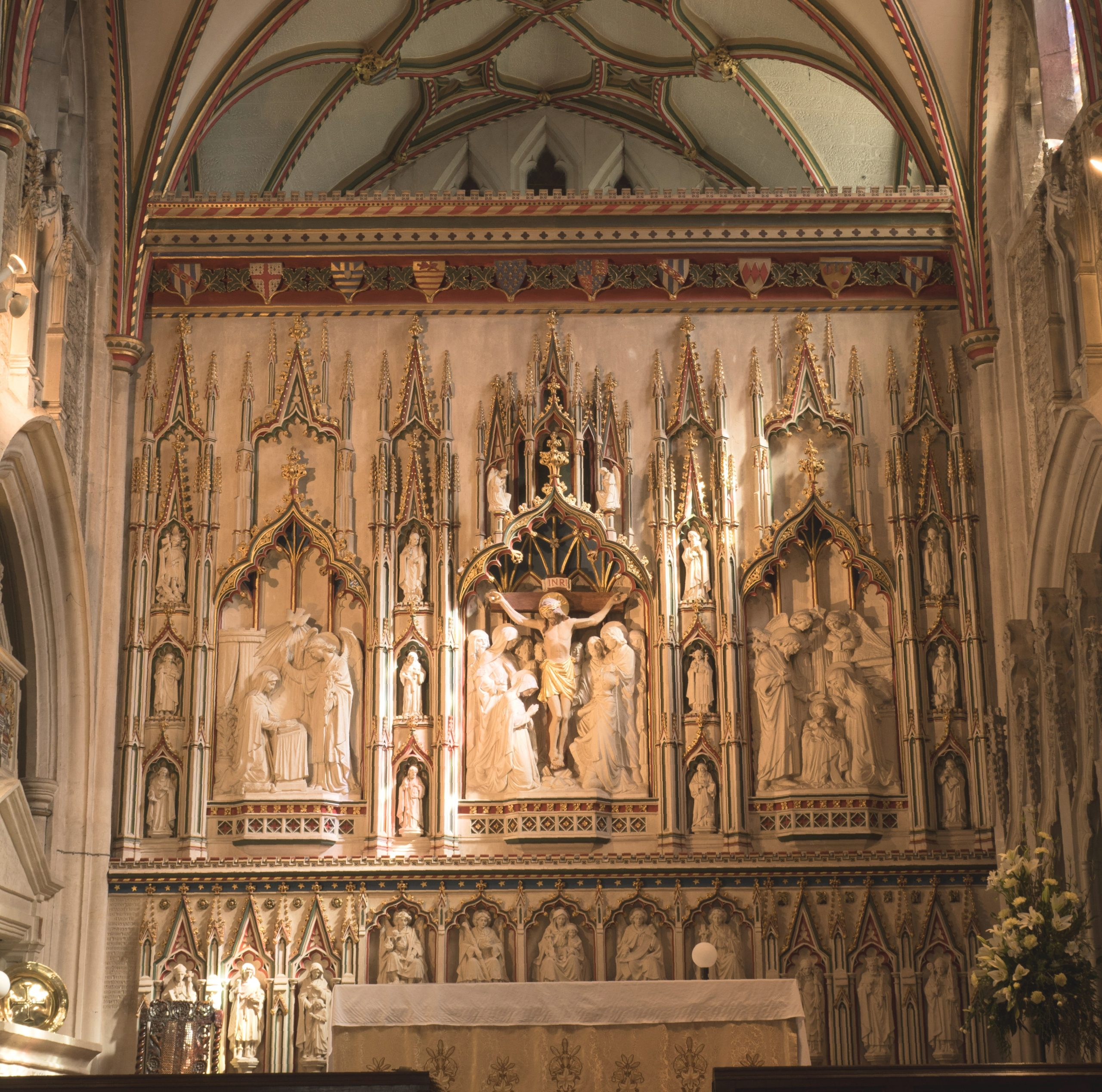 Image of the reredos at Ottery St Mary