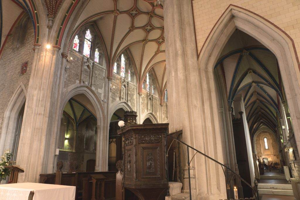 Image of the choir at Ottery St Mary, looking northeast