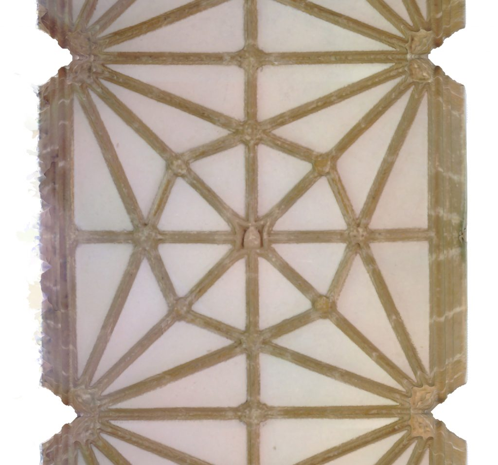 Plan view of mesh model of east walk of cloister at Wells Cathedral