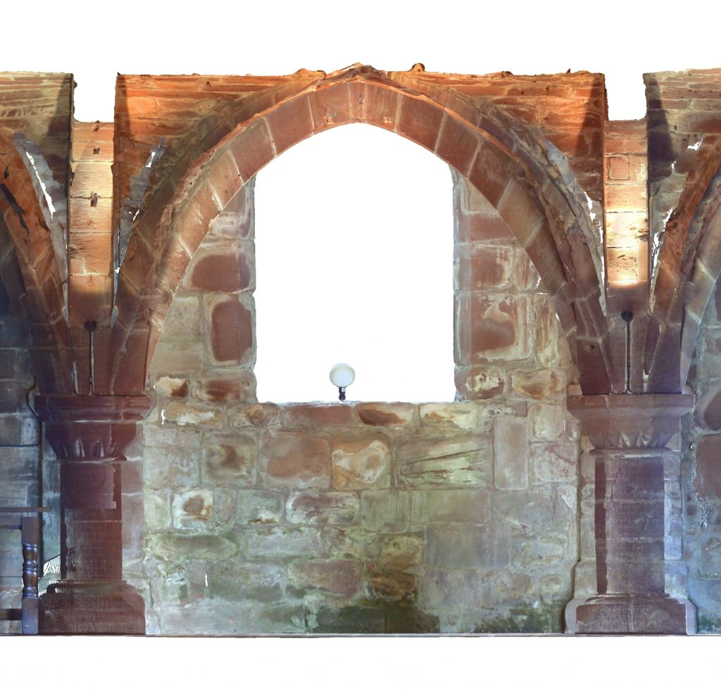 Orthophoto of longitudinal section of Norton Priory