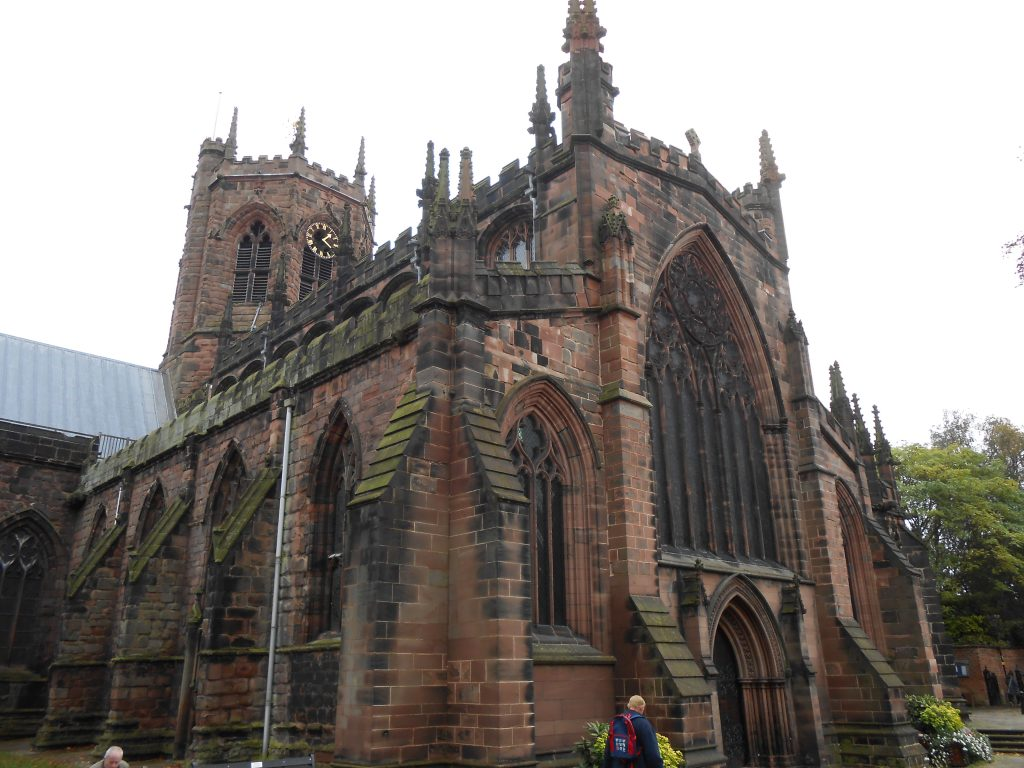 Image of exterior of St Mary's Church, Nantwich, photograph by Rept0n1x (Wikimedia Commons, CC-BY-SA-3.0 licence)