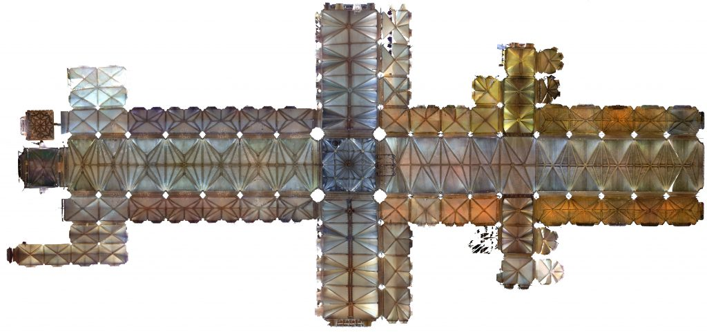 Orthophoto plan of Lincoln Cathedral