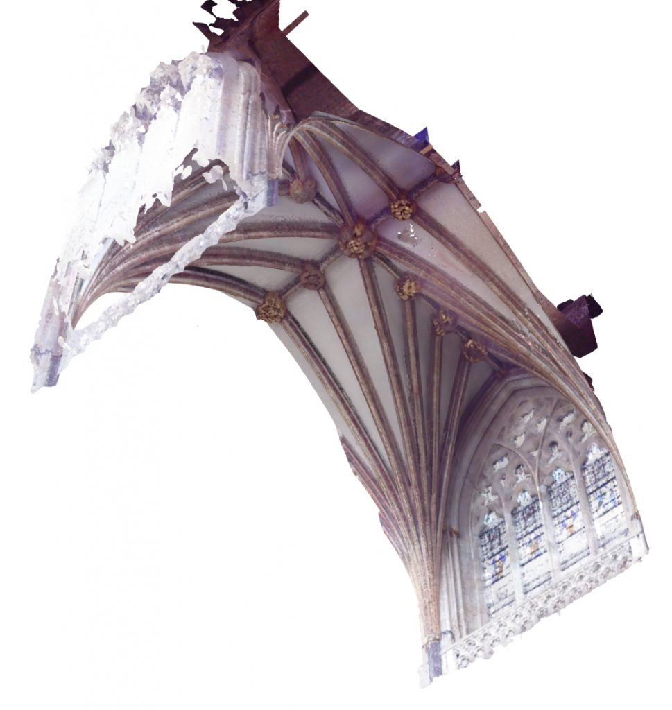 Image of mesh model of the choir vault at Exeter Cathedral