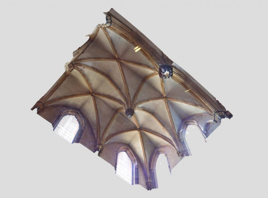 Image of mesh model of Morning Chapel at Lincoln Cathedral
